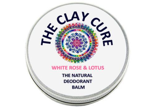 The Clay Cure Deodorant Balm - White Rose & Lotus