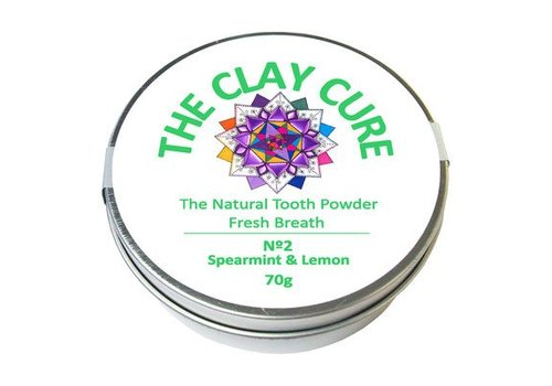 The Clay Cure Tooth Powder - Spearmint and Lemon