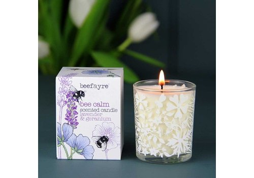 Beefayre Bee Calm Lavender and Geranium Candle