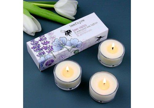 Beefayre Bee Calm Lavender and Geranium Tea Lights