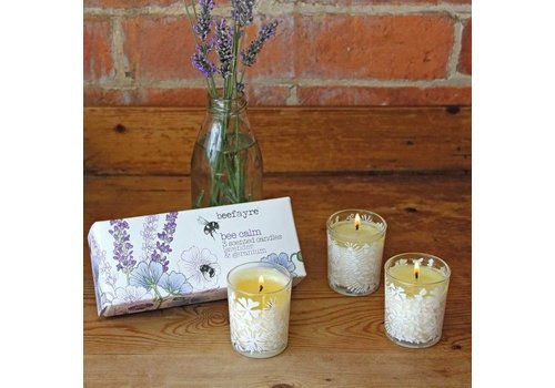 Beefayre Bee Calm Lavender and Geranium Votive Set