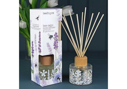 Beefayre Beecalm Lavender and Geranium Reed Diffuser