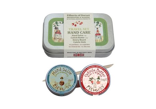 Filberts of Dorset Gift Tin: Travel Set Hand Care