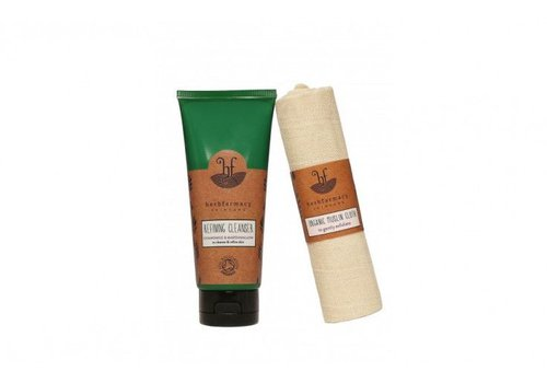 Herbfarmacy Refining Cleanser with Organic Muslin Cloth
