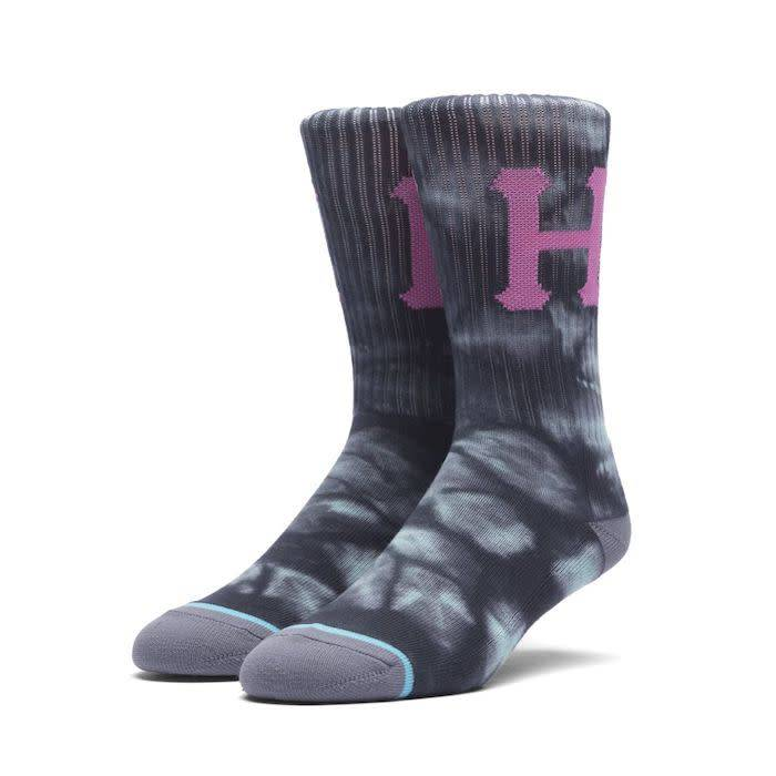 Huf Huf Classic H Crystal Wash Socks - Grey