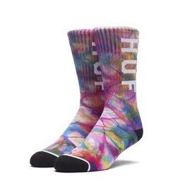 Huf Huf OG Logo Tie Dye Socks - Rainbow