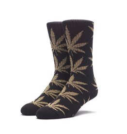 Huf Huf Tinsel Plantlife Socks - Black/Gold
