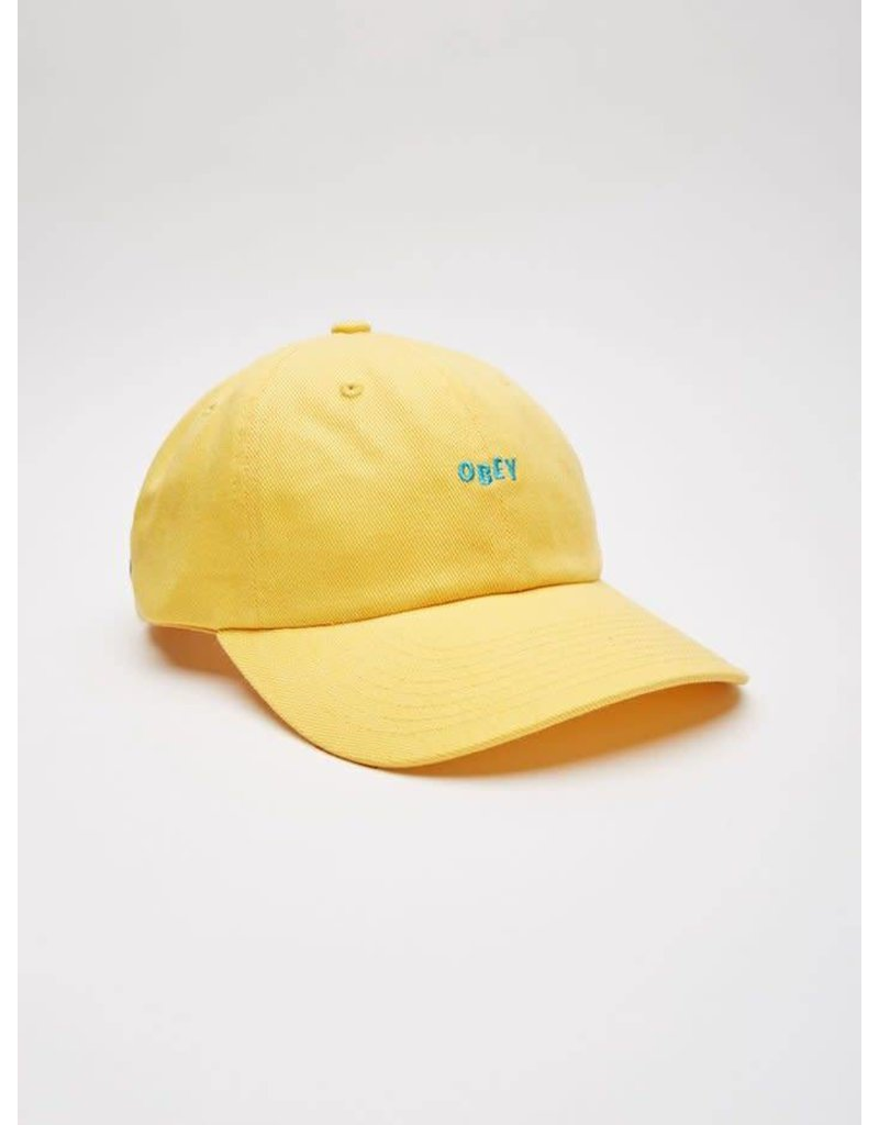 Obey Obey Cutty 6 Panel Cap - Yellow