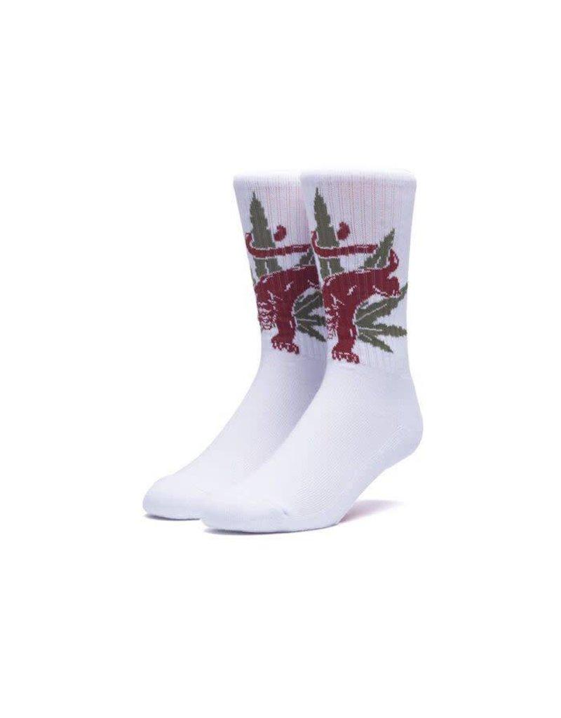 Huf Huf Blacklighter Socks - White