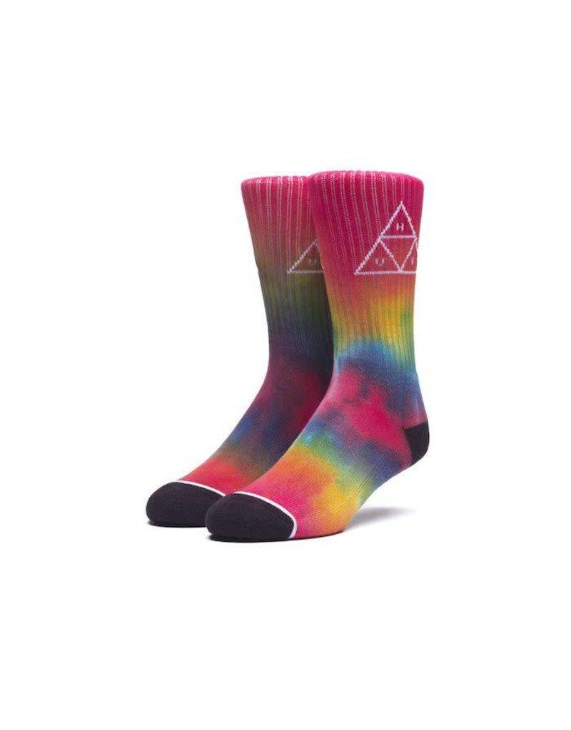 Huf Huf Tiedye Triple Triangle Socks - Rainbow