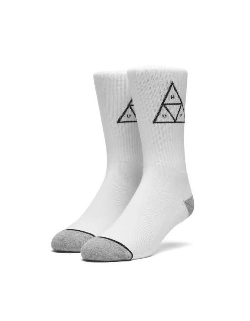 Huf Huf Triple Triangle Crew Socks - White