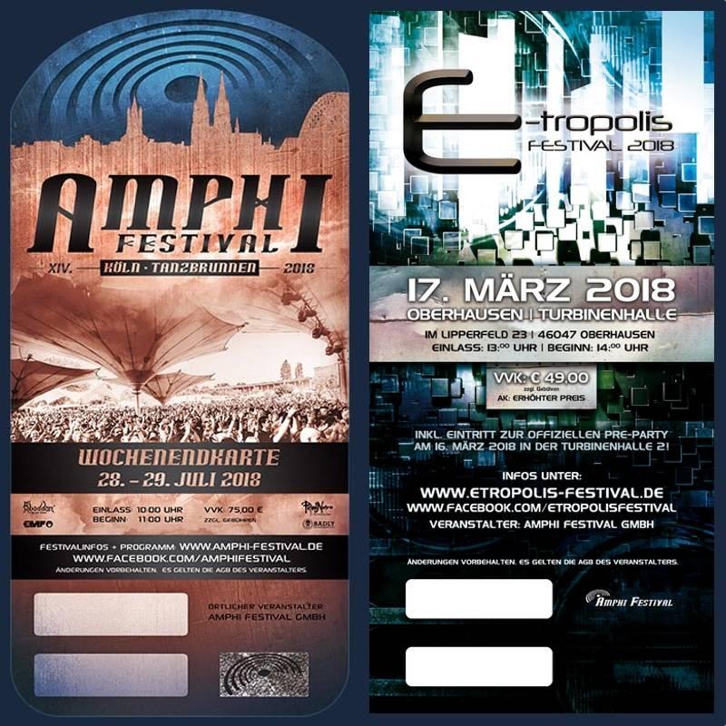 KOMBITICKET - AMPHI 2018 + E-TROPOLIS 2018