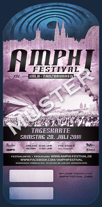 XIV. AMPHI FESTIVAL 2018 - TK SAMSTAG - 28. JULI 2018