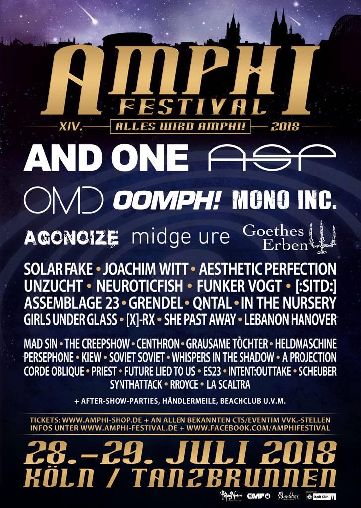 XIV. AMPHI FESTIVAL 2018 - WOCHENEND-TICKET