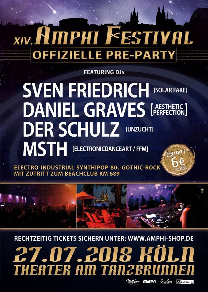 PRE-PARTY - AMPHI FESTIVAL 2018