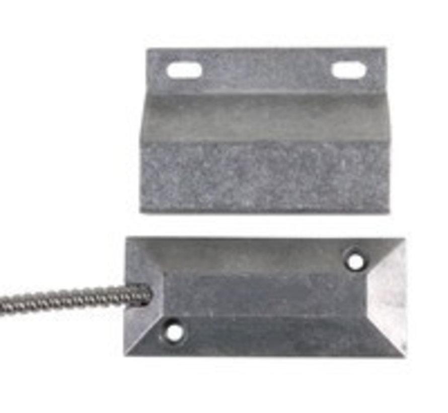 Aluminium roldeur contact voor vloermontage