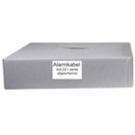 Beveiligingskabel 6 aderig afgeschermd 2x0,5mm 4x0,22mm 200
