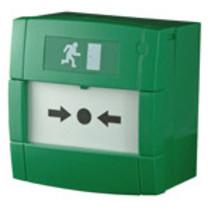 Handbrandmelder groen met 2x wisselcontact