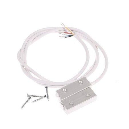 Magneetcontact opbouw aluminium OBS23901 met weerstanden 1KOhm