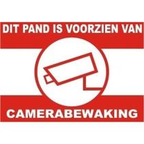 Waarschuwingssticker Camerabewaking voor binnenzijde