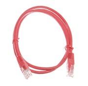 Datakabel RJ45 netwerkkabel CAT5e 1m rood