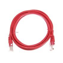 Datakabel RJ45 netwerkkabel CAT5e 2m rood