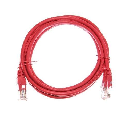 Datakabel RJ45 netwerkkabel CAT5e 2,00 m rood