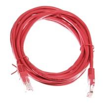 Datakabel RJ45 netwerkkabel CAT5e 3m rood