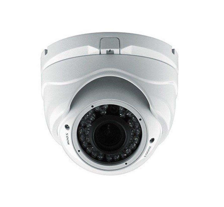 Beveiligingscamera Dome Turbo TVI Full HD met Sony 2.4MP CMOS 1080P met variabele lens 2.8-12mm