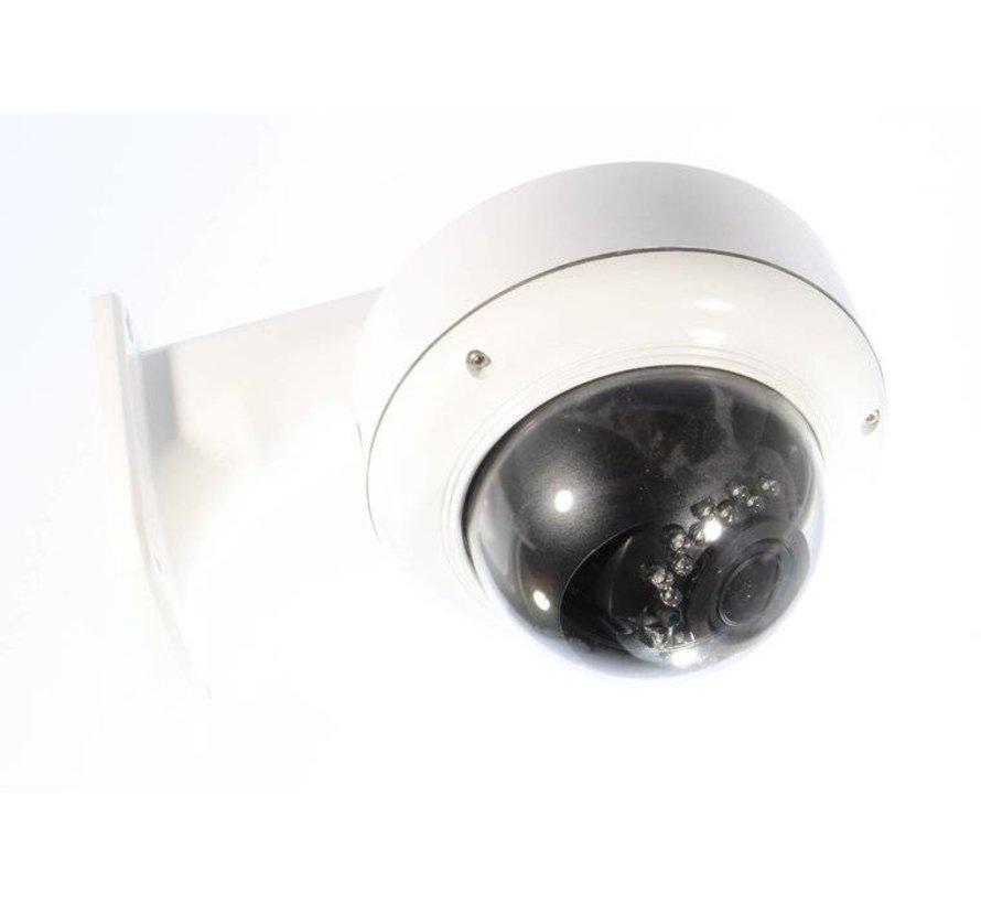 Beveiligingscamera Dome Turbo TVI Full HD 2.8-12mm wit vandaal bestendig