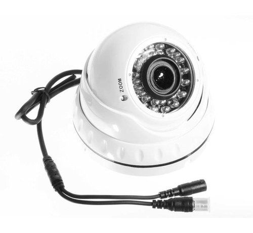 OBS Beveiligingscamera Dome Turbo TVI Full HD met Sony 2.4MP CMOS 1080P met variabele lens 2.8-12mm kleur wit