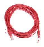 Datakabel RJ45 netwerkkabel CAT5e 3,00 m rood