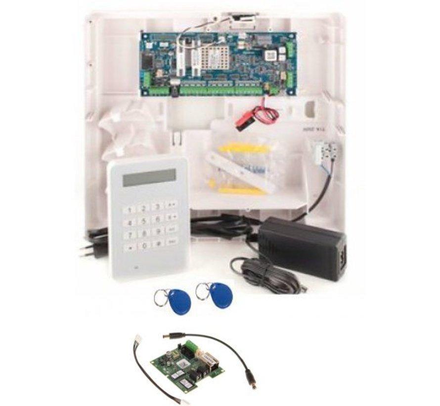 Alarmsysteem Galaxy Flex3-20 met MK8prox  bedienpaneel en IP module
