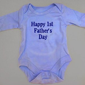 Blue Baby Vest Funny Quote