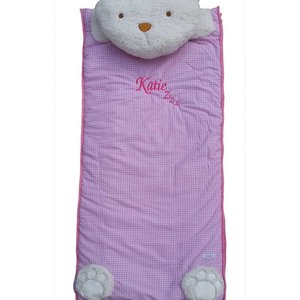 Pink Childrens Sleeping Bag