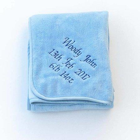 Blue Fleece Baby Blanket