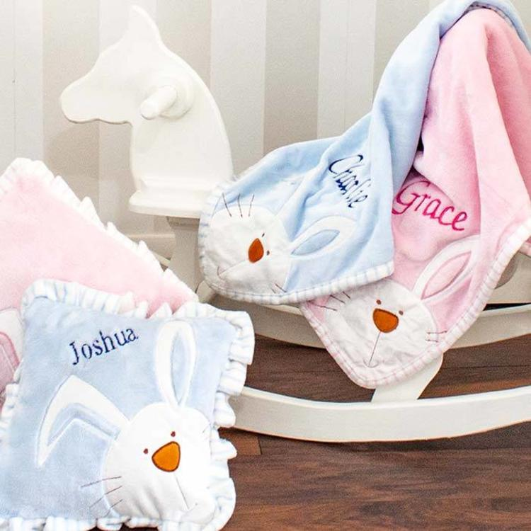 Personalised Baby Bunny Blanket