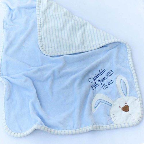 Blue Bunny Baby Blanket
