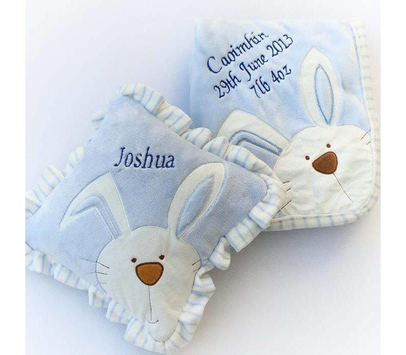 Personalised Baby Bunny Blanket