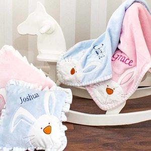 Personalised Pink Bunny Blanket