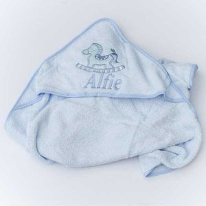 Personalised  Baby Boys Hooded Towel