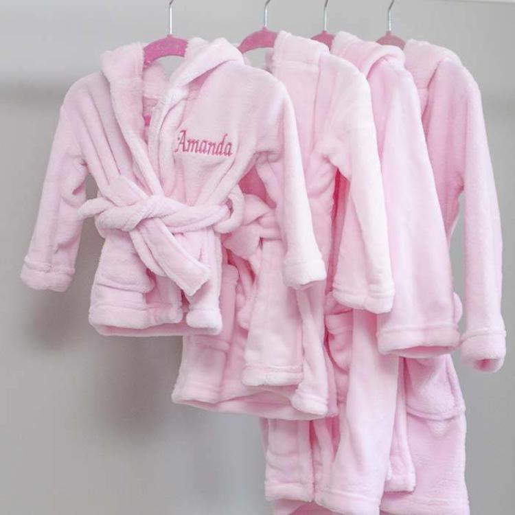 Personalised Sibling Indoor Robe Set for Baby and Children - The ...
