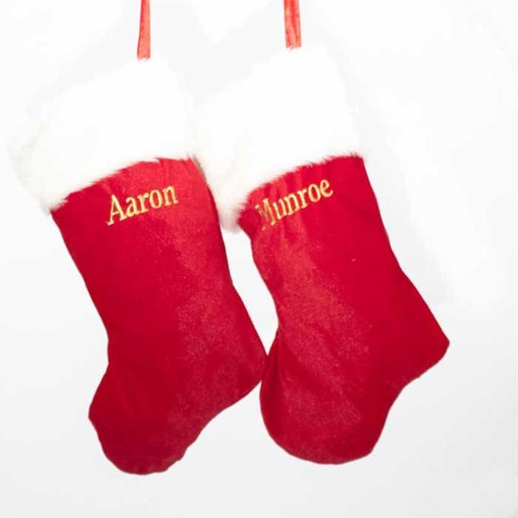 Plain Traditional Christmas Stocking