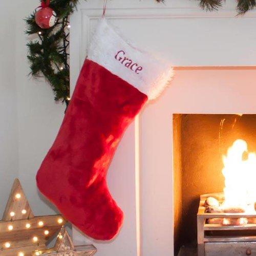Large Traditional Christmas Stocking