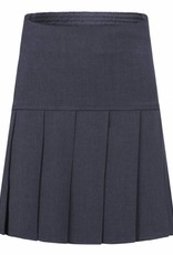Grey Stretch Full Pleat Skirt