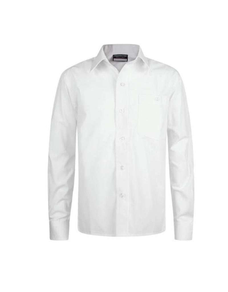 Boys Long Sleeve Shirts Twin Pack White