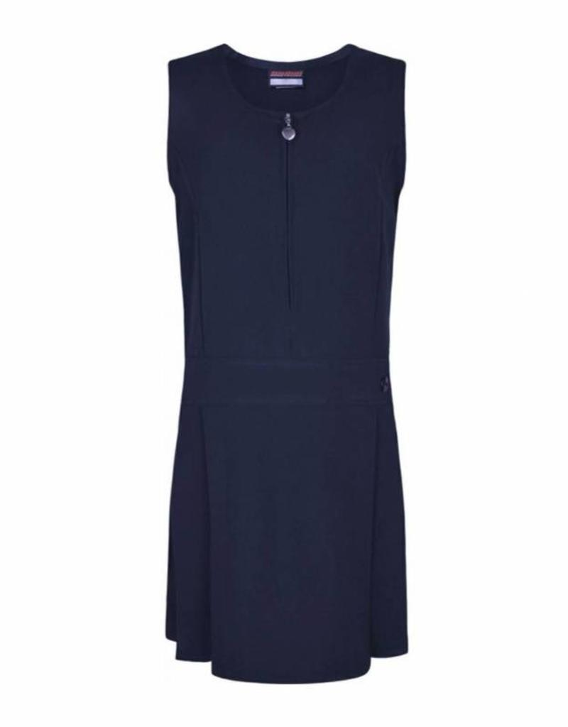 Navy Pinafore Half Pleat