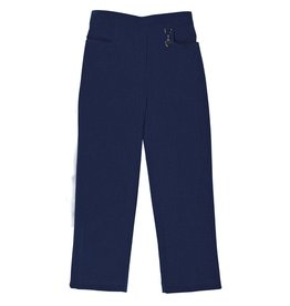 Girls Navy Trouser with Half elastic waist