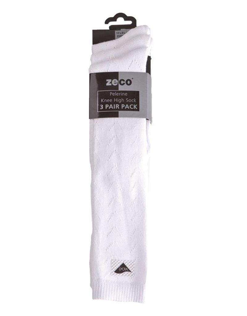 Girls White Knee High Socks (3 Pack)