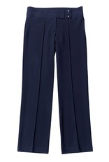 Girls Navy Two Button  Slim Fit Trouser
